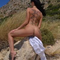 Maria-Alexandrou-Naked-Crete-Beach-Kanoni-5